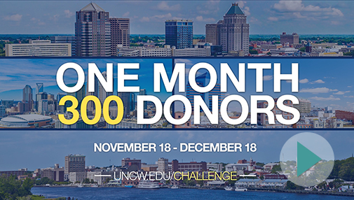 Alumni Chapter Challenge - One Month, 300 Donors, uncw.edu/challenge