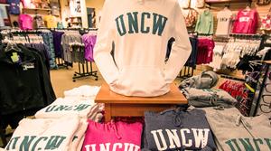 UNCW apparel in bookstore