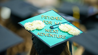 Psyched for my next adventure on grad cap